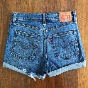 Levi Hidden Button Fly Denim Shorts 27/28